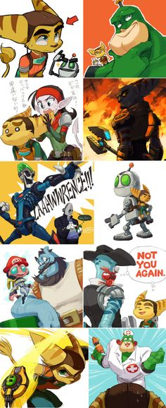 Ratchet and Clank by deviantartist Nmrbk. http://browse.deviantart.com/art/Sly-Cooper-Thieves-In-Time-doodles-373140337