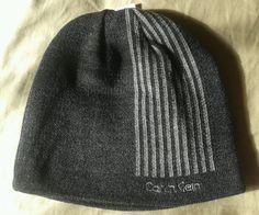 95719027 Calvin Klein Gray Reversible Beanie Knit Cap One Size NEW #CalvinKlein # Beanie