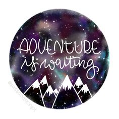 Adventure is Waiting Galaxy Digital Print - Perfect for a nursery, bedroom or really anywhere in your house, this beautiful watercolor galaxy & handlettering will evoke dreams of the celestial skies every time you walk into a room. This print will be a great conversation piece for guests & was handcrafted with love.