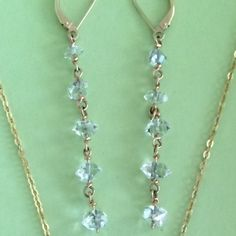Brooke Barboza - 14kt gold Herkimer diamond earrings