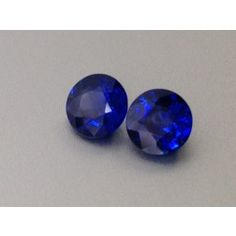 #Natural #Heated #Blue #Sapphire #Pair filled with a #vivid #blue color cut as round brilliant shapes at 1.77 carats     Great choice for a #pair of #earrings