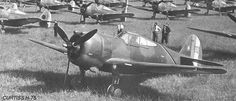 French Armée de l'Air Curtis H-75 Hawk, just before outbreak of WWII. France had ordered Curtis' more modern P-40 Warhawks, but few if any arrived before outbreak of war,  most of order went to Britain by default as P-40 Warhawks, Kittyhawks,  later models with a few other names, for basically same airframe. P-40 was basically reengined Hawk with an inline engine,  necessary fuselage remodelling.