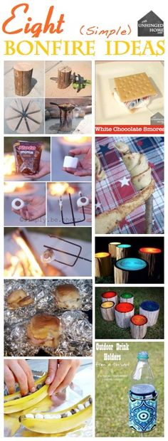 Different Ideas for having a bonfire or camping!