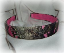 mossy oak hot pink real tree camo camouflage headband hunting sport country chic