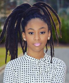Love the width of her locs!
