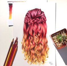 Gorgeous autumn inspired hair by @artbysammi _ !_Tag #charmingart for a possible feature __#drawing #draw #sketch #art #artist #arte #artoftheday #artistic #artsy #illustration #photooftheday #painting #vsco #instaart #instaartist #worldofpencils #instalike #talnts #talented #art_spotlight #arts_gallery #worldofartists #nawden #artfido #artcollective #vscocam #sketching