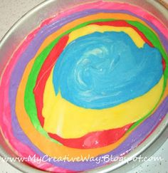 My Creative Way: How to Make A Tie Dye Cake