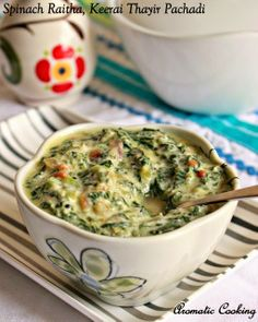 Aromatic Cooking: Spinach Raitha, Keerai Thayir Pachadi
