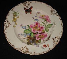 "Meissen 8 3/4"" floral plate"