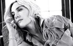 Kate Winslet, actress, portrait, monochrome, American actress