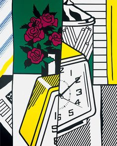 Still Life with Clock and Roses, 1975, Roy Lichtenstein