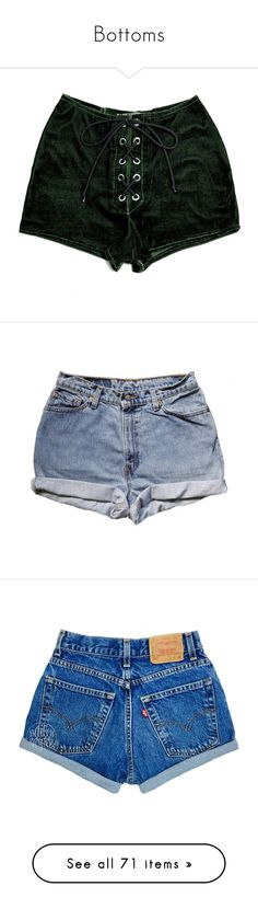 """""""Bottoms"""" by where-da-wild-things-are ❤ liked on Polyvore featuring shorts, bottoms, pants, velvet, eyelet shorts, velvet shorts, stretch shorts, stretchy shorts, lace up shorts and cut-off shorts"""