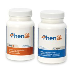 Phen24 combines two products – day & night – to complement your diet, exercise and sleep for a full weight loss solution. Full 60 day money back guarantee.