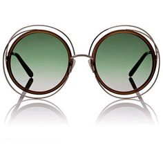 22d7dc40675 Chloé Women s Carlina Sunglasses (10 080 UAH) ❤ liked on Polyvore featuring  accessories