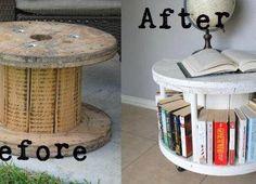Reciclando, para mis libros! Me encantó