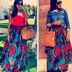 Maxi skirt designed by Kiki Zimba