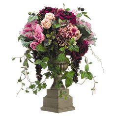 Faux Rose & Hydrangea Arrangement