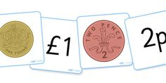 British Coin Flashcards - Money, flashcard, coins, currency, pound, pence, foundation numeracy, coin, pay, shop