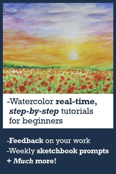 Learn how to use watercolor or improve your skill level so that you can finally create artwork your proud to show to the world! Step-by-step video tutorials with full narrated explanations, feedback from a working artist, new resources every week, and much more! Join us on Patreon. #watercolorstepbystepforbeginners #watercolorhowtovideos #watercoloreyestutorialvideo #watercolorclassesonline #learnwatercolorpainting #learnwatercolours