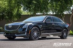 "2016 Cadillac CT6 with 20"" Lexani Pegasus in Gloss Black (Machined Face) wheels"