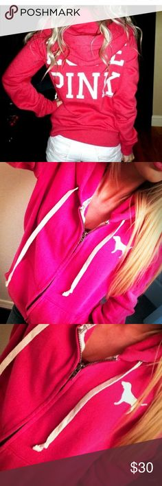 Victoria Secret pink zip up hoodie small Full zip hoodie, Victoria secret pink, small, NWOT PINK Victoria's Secret Tops Sweatshirts & Hoodies