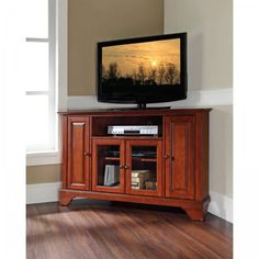 "LaFayette 48"" Corner TV Stand by Modern Marketing (Classic Cherry) (30""H x 47.75""W x 18""D)"