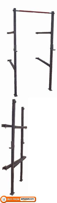 Collapsible Wall Mounted Squat and Pull Up Rack, This one of a kind design is perfect for the garage gym or smaller CrossFit spaces. The collapsible rack allows you to pull it out, set it up or store it in less than a minute. Why give up your garage..., #Sporting Goods, #Home Gyms, http://www.pylinks.com/store/item-B00AN6QVEA