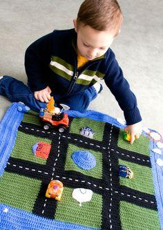 Crochet PatternPlay Mat by KristieLynn on Etsy Crochet Game, Crochet Gifts, Crochet For Kids, Crochet Toys, Knit Crochet, Knitting Projects, Crochet Projects, Knitting Patterns, Crochet Patterns