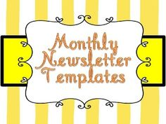 The Classroom Times Monthly Newsletter is a great resource for letting parents know what is going on in your classroom.  You can use these forms fo...
