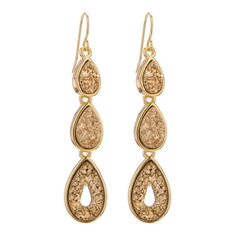Triple Drop Shaped Earring Marcia Moran $322