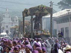 Procesión del Santo entierro en Sonsonate, El Salvador