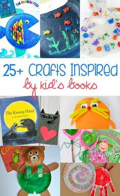of the Best Crafts Inspired by Children's Books Looking for a fun way to reinforce what your kids are reading? These crafts are great ideas to help your kids learn and have fun at the same time, Arts And Crafts For Adults, Easy Arts And Crafts, Arts And Crafts Projects, Preschool Crafts, Crafts For Kids, Children Crafts, Storybook Crafts, Art And Craft Videos, Preschool Activities