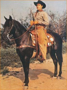 Allen Rocky Lane and his horse Black Jack