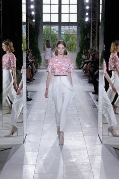 Balenciaga Spring 2014 Ready-to-Wear Collection Slideshow on Style.com crushed pressed laser-cut printed fabric