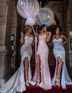 Elegant Sweetheart Appliques Mermaid Bridesmaid Dress With Split,mermaid bridesmaid dresses,bridesmaid dress 2016