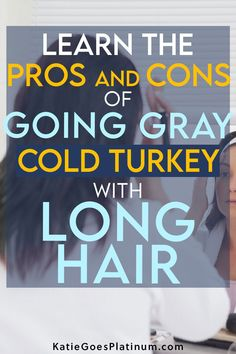 Why do some silver sisters prefer to keep their hair long while they transition to gray, how do they rock their gray grow-out, and what does it look like during the long transition period?  Read on to find out everything you want to know about going gray with long hair.  #goinggray #longhair #longgreyhair Long Gray Hair, Grey Hair, Transition To Gray Hair, Going Gray, Grow Out, Silver Hair, Period, How To Find Out, Sisters