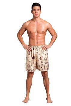 6c9ea87ace Casual Loose Men's Satin Silk Pajama Shorts Summer Sleepwear Soft Boxer  Sleep Bottom Sexy Nightwear Underpants