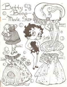BETTY BOOP by Frey  <> Black and White Paper Dolls from the Paper Doll Gazette Issue 65 Number VI from the year 1983 Volume XIII. Miss Missy Paper Dolls: June 2015