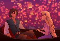 A fan art of mine for Disney Tangled. I saw the movie two weeks ago (in of course) and it was good and very touch heart. TANGLED I See The Light Flynn Rider And Rapunzel, Rapunzel And Eugene, Rapunzel Hair, Disney Fan Art, Disney Love, Disney Disney, Disney Tangled, Disney Magic, All Animated Movies
