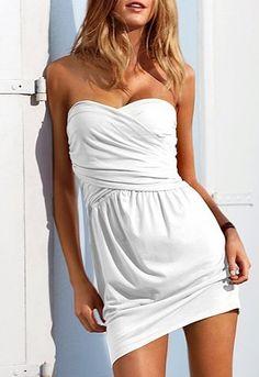 victoria secret white summer dress