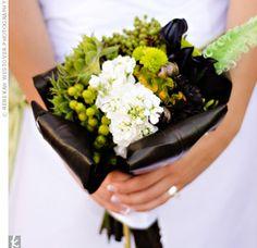 Black, chartreuse bouquet