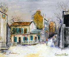 Cabaret au Lapin Agile Artwork by Maurice Utrillo Hand-painted and Art Prints on canvas for sale,you can custom the size and frame