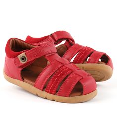 Bobux Global Roamer Sandal Red - Happy Little Soles