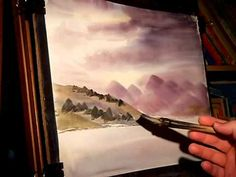 Loch Etive, Scotland - Watercolour Landscape Painting Demonstration - YouTube