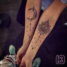 Die 17 Besten Bilder Von Sonne Mond Tattoos Sun Moon Tattoos