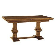 """Ballard Designs - Chianni Trestle Table.  64""""W (w/o leaf) & 84 1/4""""W (w/leaf) X 36""""D.  Has one 20"""" leaf."""