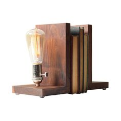 Grandma always told you to read with the lights on. Now, you'll never second guess her again.  Find the At First Light Bookends, as seen in the Vintage Americana Collection at http://dotandbo.com/collections/vintage-americana?utm_source=pinterest&utm_medium=organic&db_sku=89378