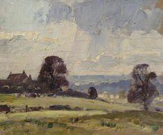 A Cotswold Landscape by Edward Seago RWS, RBA,(1910-1974)