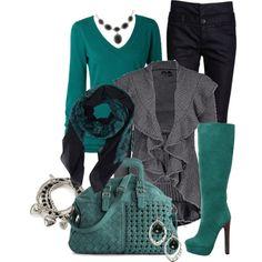 Aqua and Black :)
