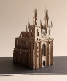 3D The Church of Our Lady before Tyn. Souvenir cards.